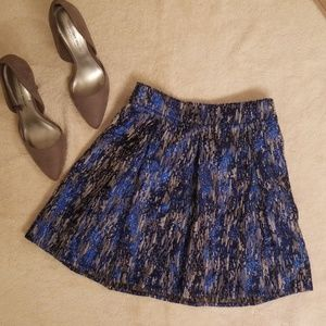 Bethany Mota blue metallic skater mini skirt
